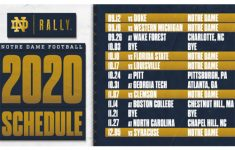 2020 2021 Football Schedule News The Daily Domer