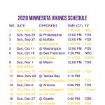 2020 2021 Minnesota Vikings Lock Screen Schedule For