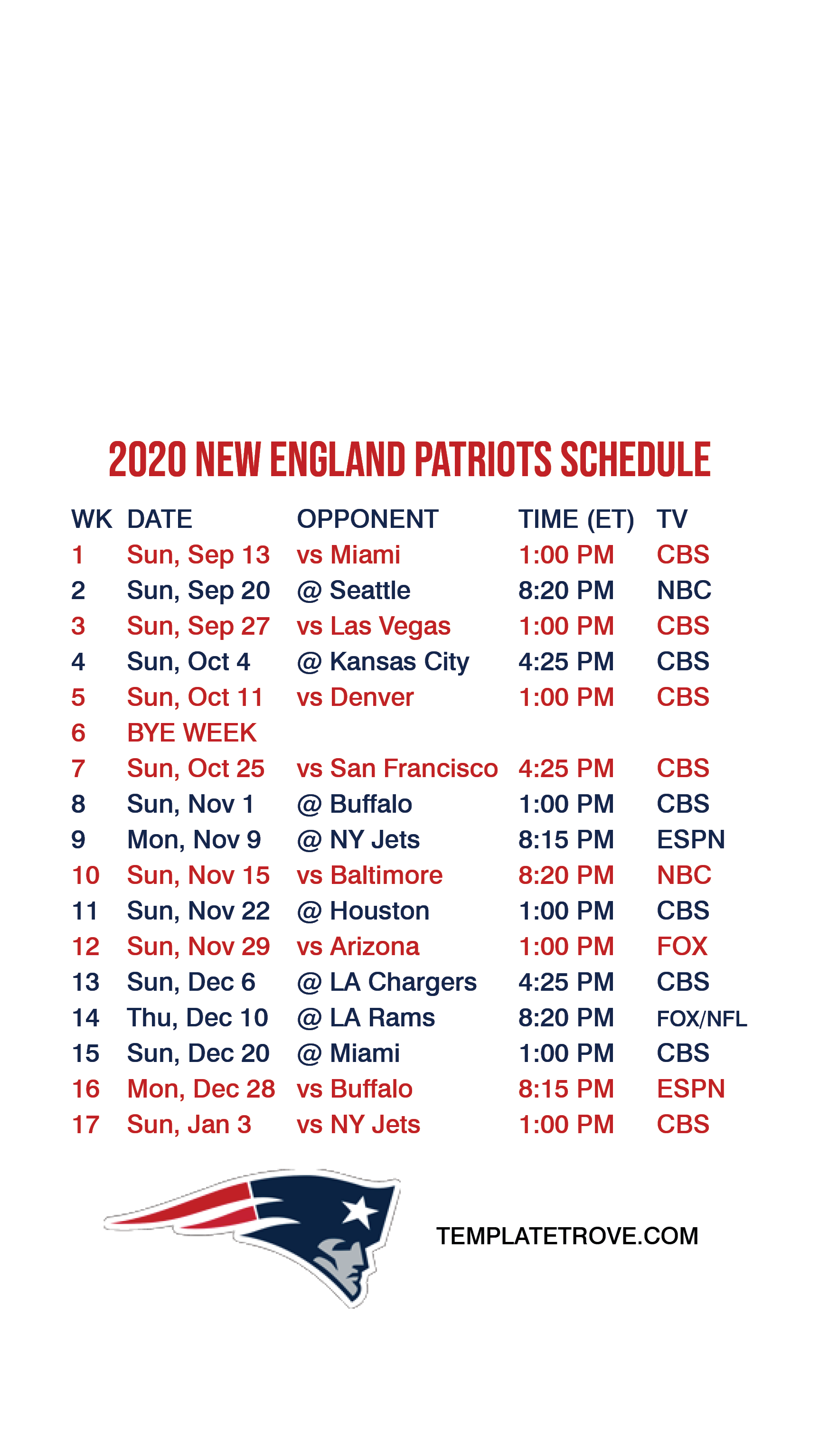 2020 2021 New England Patriots Lock Screen Schedule For