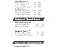 2020 2021 NFL Playoffs TV Schedule Printable