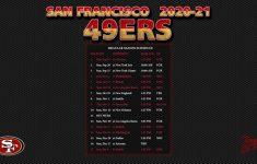 2020 2021 San Francisco 49ers Wallpaper Schedule