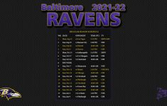 2021 2022 Baltimore Ravens Wallpaper Schedule