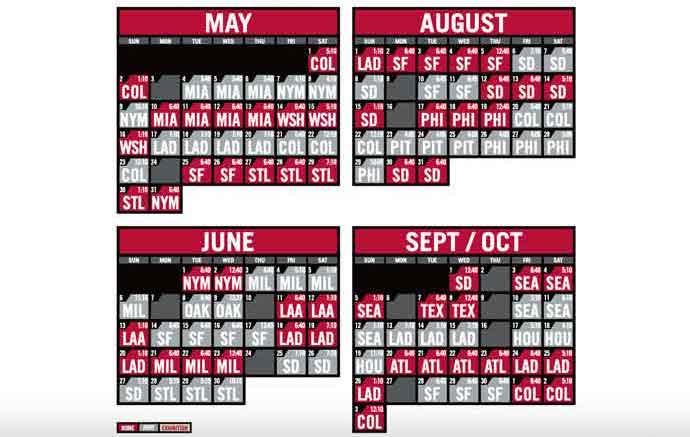 2021 Arizona Diamondbacks Team Schedule Tickets