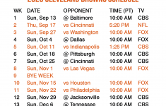 2021 Cleveland Browns Schedule Printable