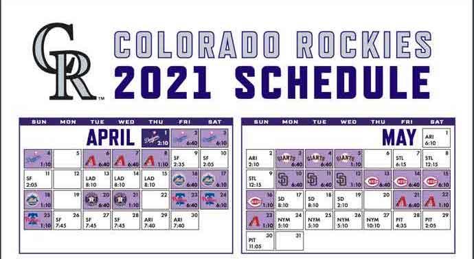 2021 Colorado Rockies Team Schedule Batting Order