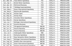 2021 Nascar Xfinity Schedule Printable