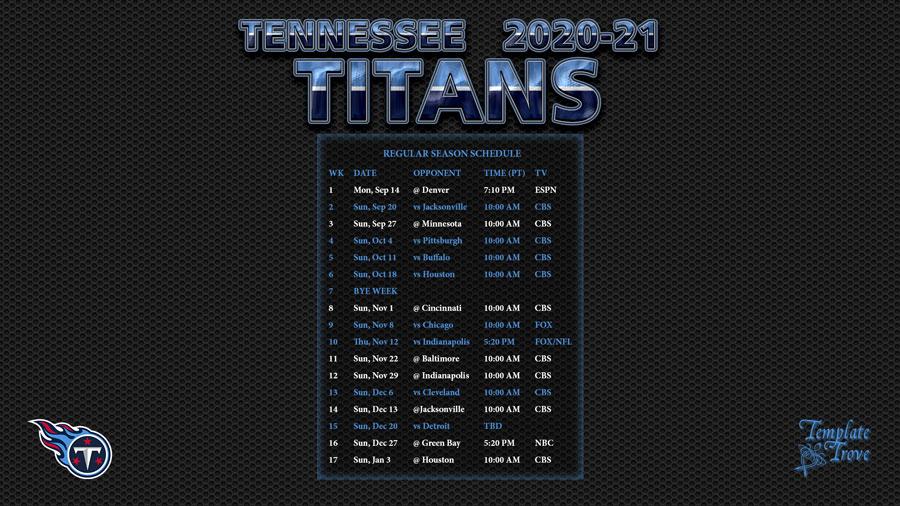 2021 Nfl Football Schedule Printable Calendar Printables