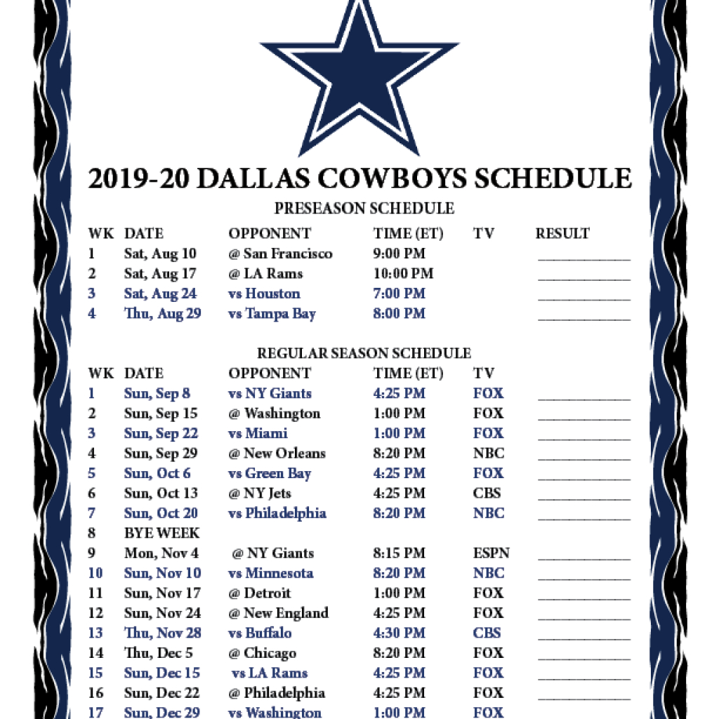 2021 Nfl Schedule Printable Calendar Printables Free Blank