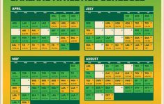 2021 Oakland Athletics Team Schedule Ticket Available
