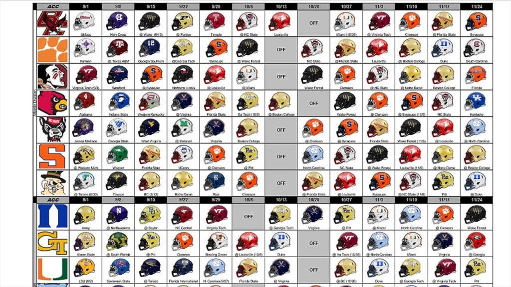 2021 Sec Football Helmet Schedule Printable
