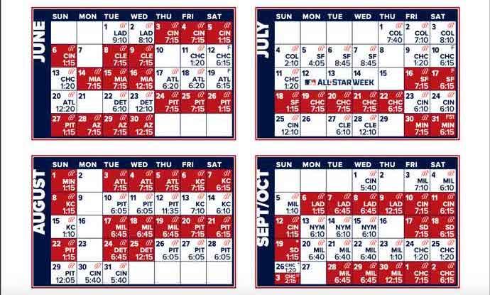 2021 St Louis Cardinals Team Schedule Batting Order