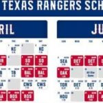 2021 Texas Rangers Team Schedule Tickets Available