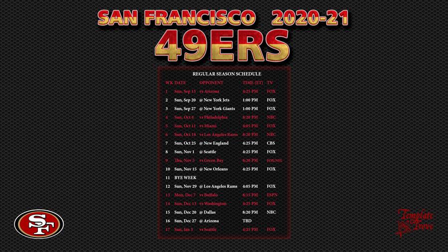 49ers Schedule 2021 2022 Printable PrintableSchedule