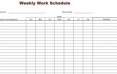 7 Best Free Printable Weekly Work Schedule Printablee