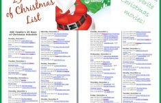 ABC Family S 25 Days Of Christmas TV Schedule