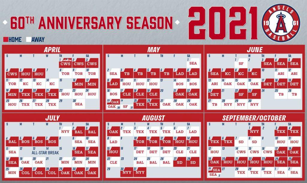 Angels Release 2021 MLB Schedule Halos Heaven