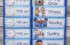 Back To School Printables Preschool Classroom Schedule