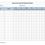 Blank Cleaning Schedule Template 5 PROFESSIONAL