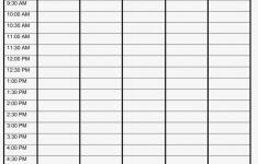 Blank Weekly Schedule Printable Week Planner Sheet