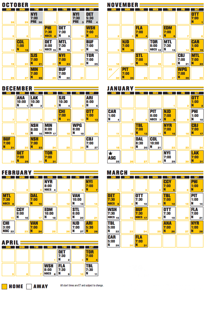 Boston Bruins Printable Schedule That Are Monster Jimmy