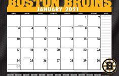 Boston Bruins Printable Schedule 2021 Pdf