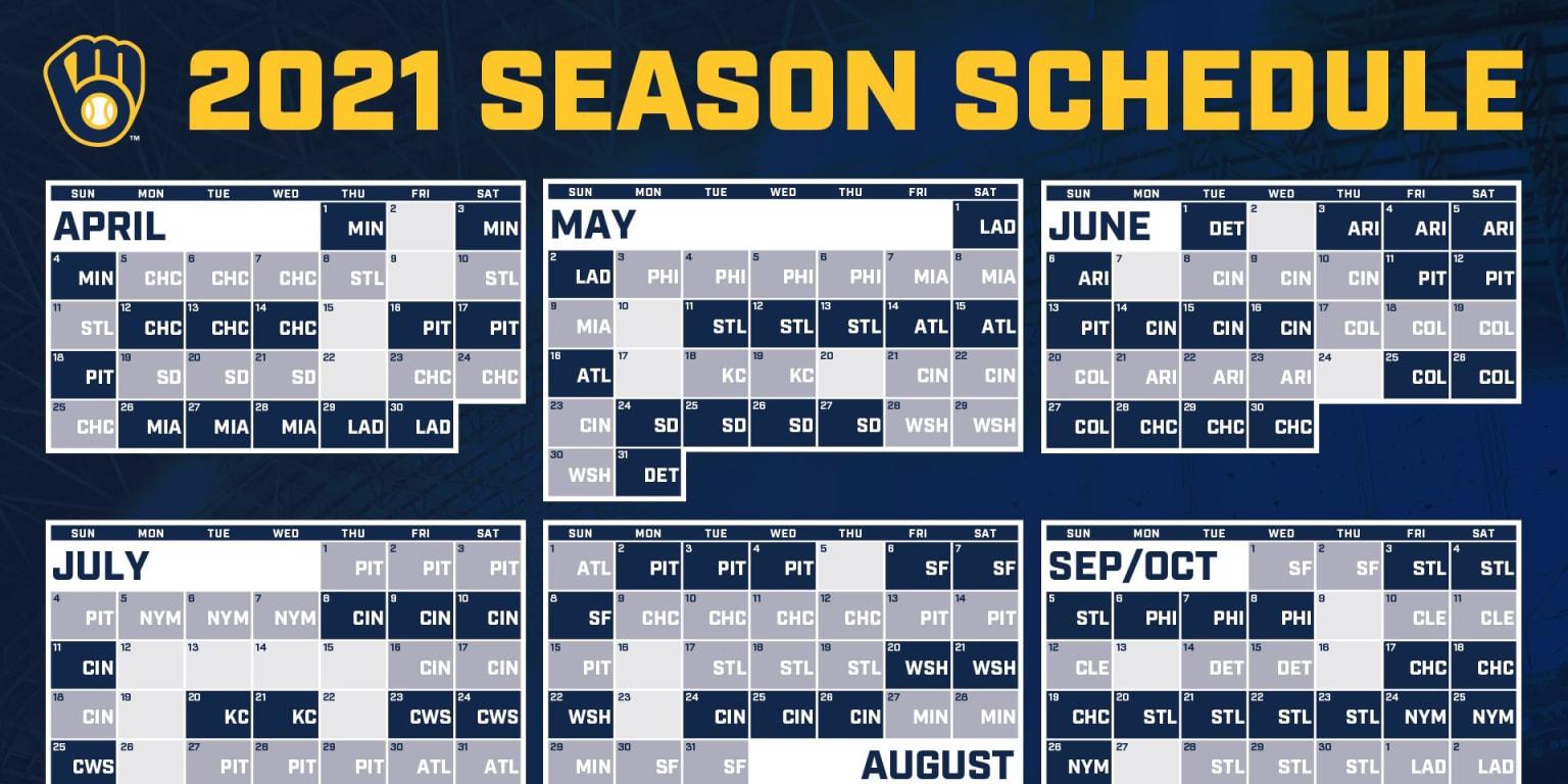 Brewers Announce 2021 Regular Season Schedule MLB