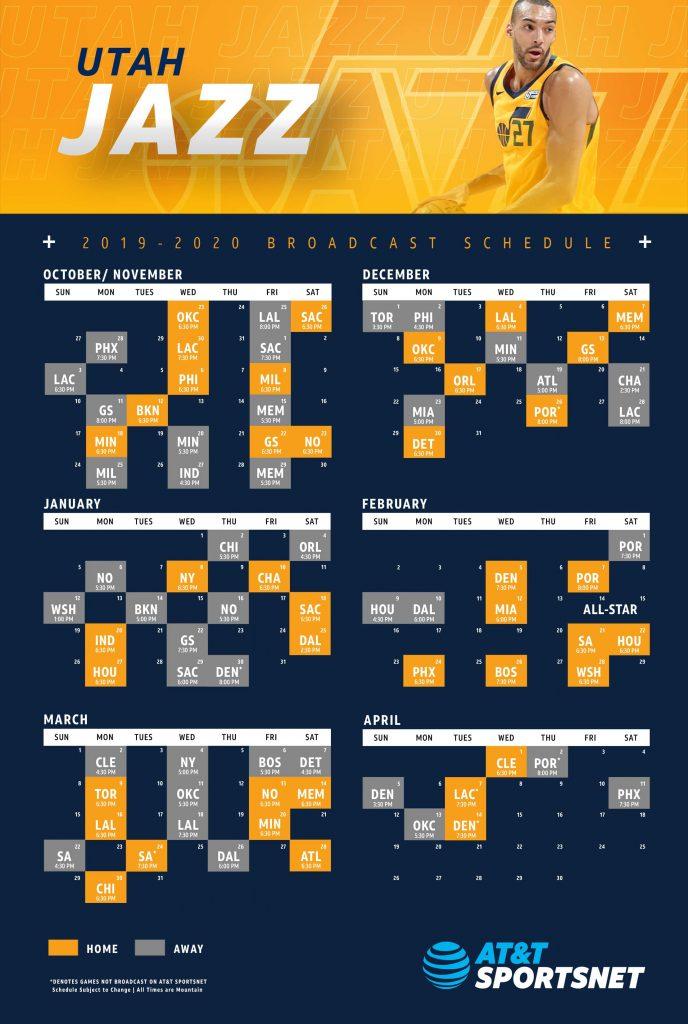 Candid Utah Jazz Schedule Printable Hudson Website