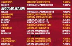 Chiefs Printable Schedule Kansas City Chiefs Schedule