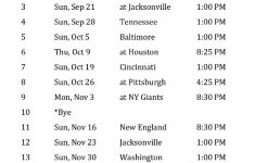 Colts Schedule Printable Printable Indianapolis Colts