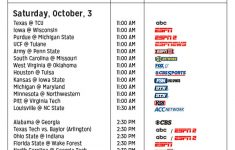 Comprehensive Guide To Every College Football Game On TV