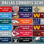 Cowboys Calendario Completo Del Equipo De Dallas Para La