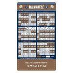 Custom Milwaukee Brewers Baseball Team Schedule Magnets 4