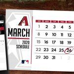 D Backs 2020 Schedule Arizona Diamondbacks