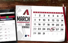 D Backs Printable Schedule