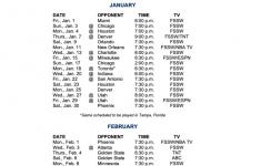 Dallas Mavericks Schedule 2021 Printable