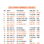 Denver Broncos 2021 Printable Schedule PrintableSchedule