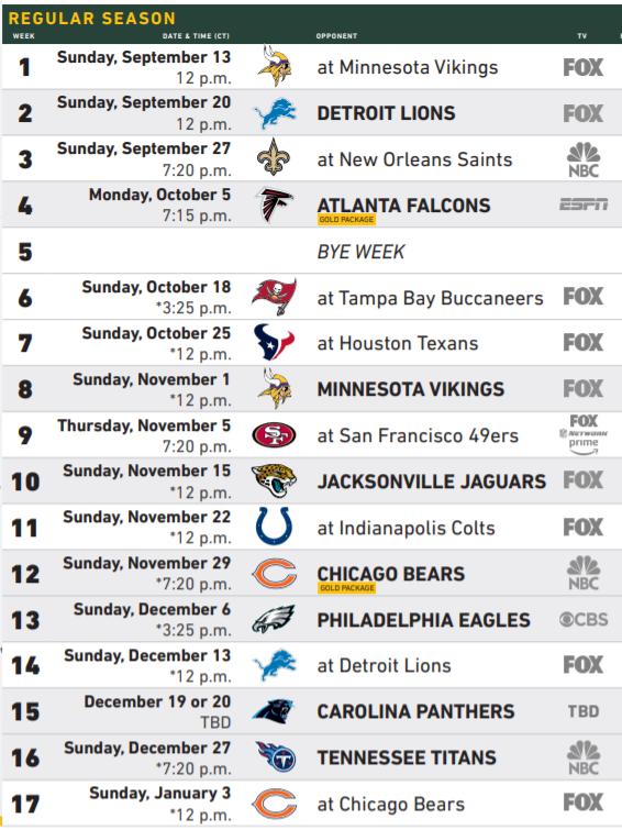 Detroit Lions Schedule 2021 Printable