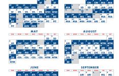 Dodgers Printable Schedule