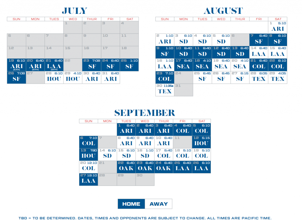Dodgers Calendar Schedule 2021 Christmas Day 2020
