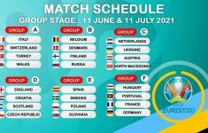 Euro 2021 Live From 11 June Schedule PDF 2020 Fixtures