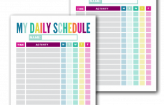 Free Kid S Daily Schedule Template The Incremental Mama