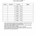 Free Printable Dog Walking Chart Potty Train Your