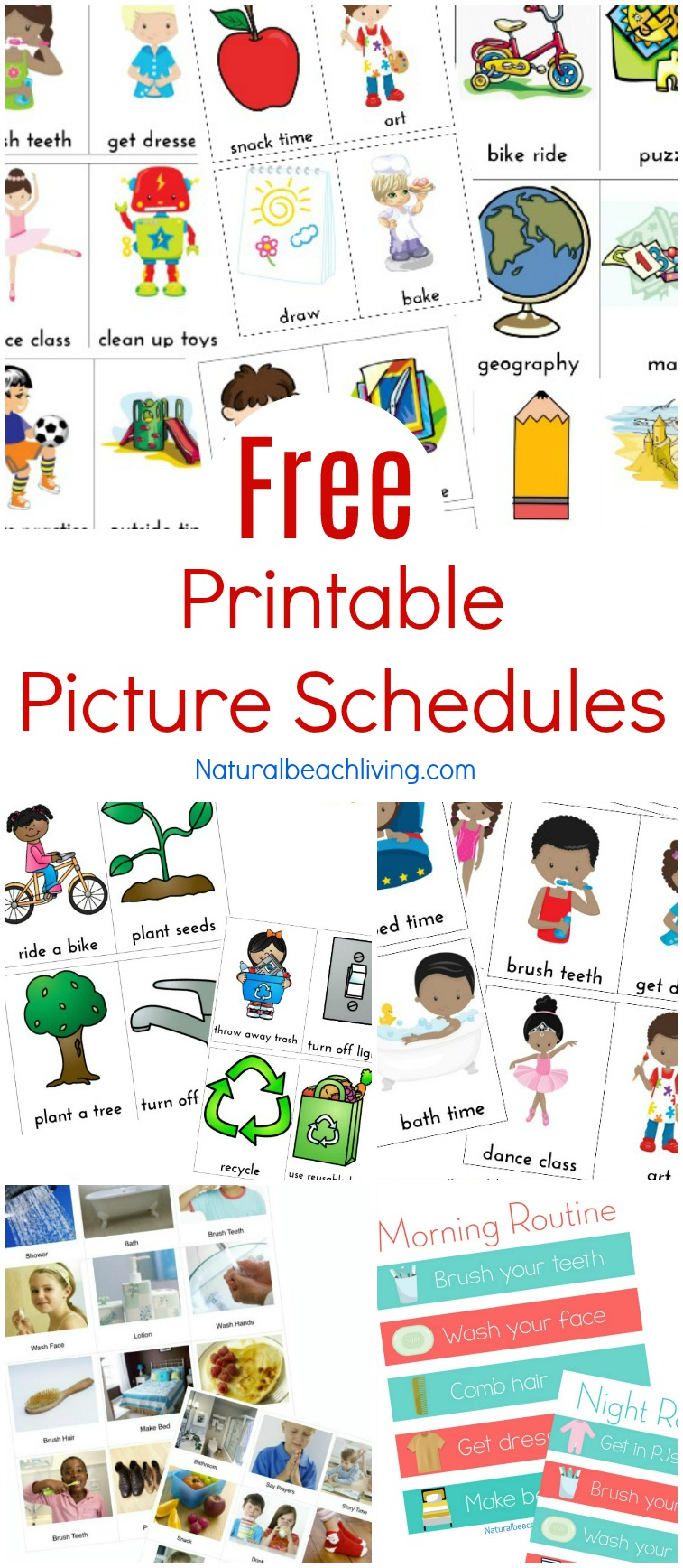Free Printable Picture Schedule Cards Visual Schedule