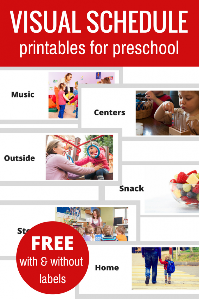 Free Printable Visual Schedule For Preschool No Time For