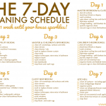 FREE Printable Weekly House Cleaning Schedule Clean