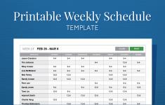 Printable Free Weekly Employee Work Schedule Template