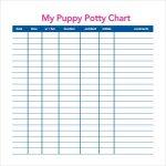 Free Puppy Potty Log Potty Training Charts 9 Download