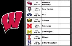 Get Your 2018 Wisconsin Badgers Football Schedule App For