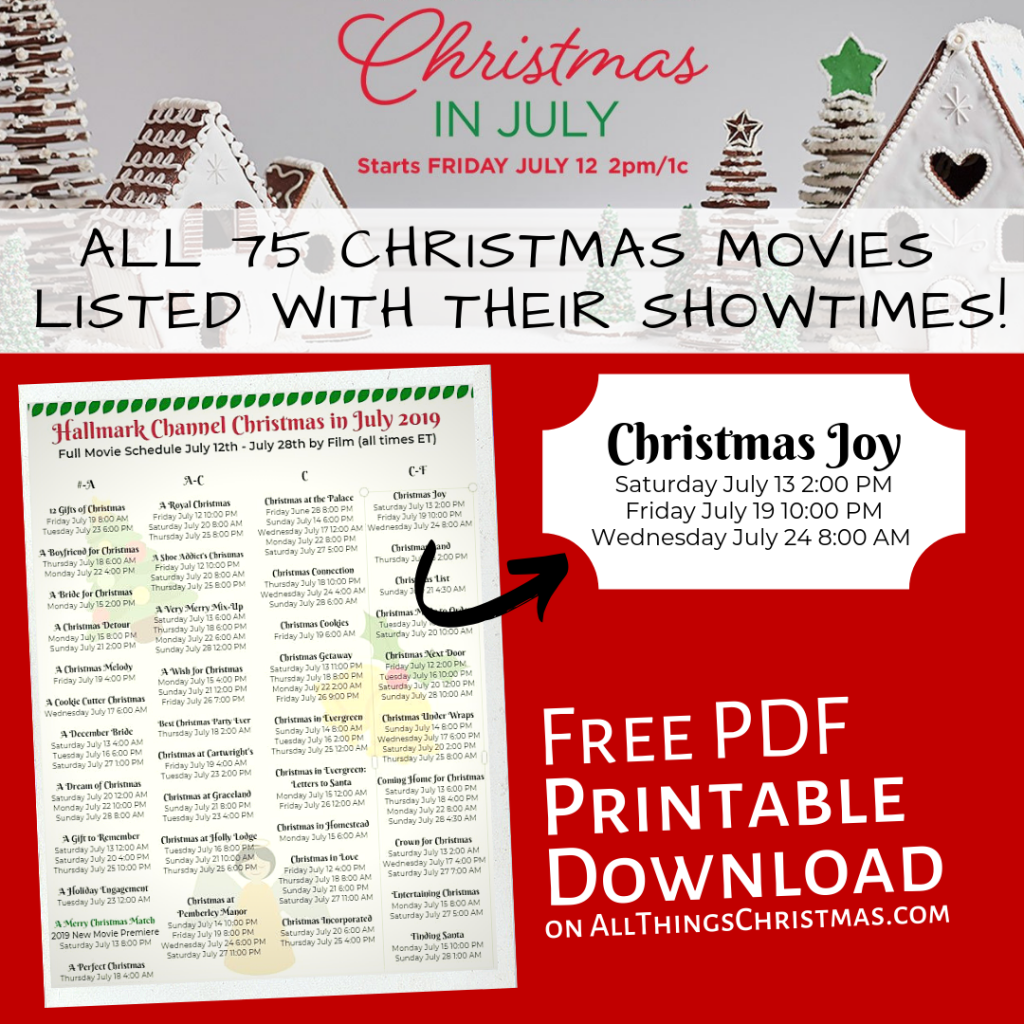 Hallmark Christmas In July Every Movie With It s