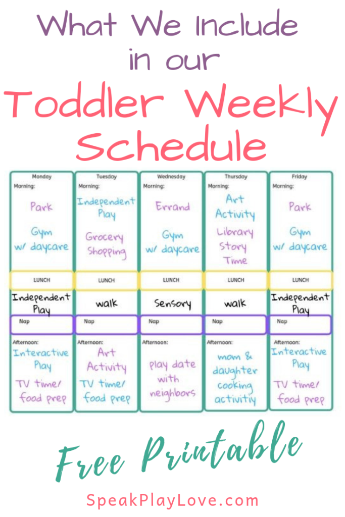 Here s Our Toddler Weekly Schedule Free Printable